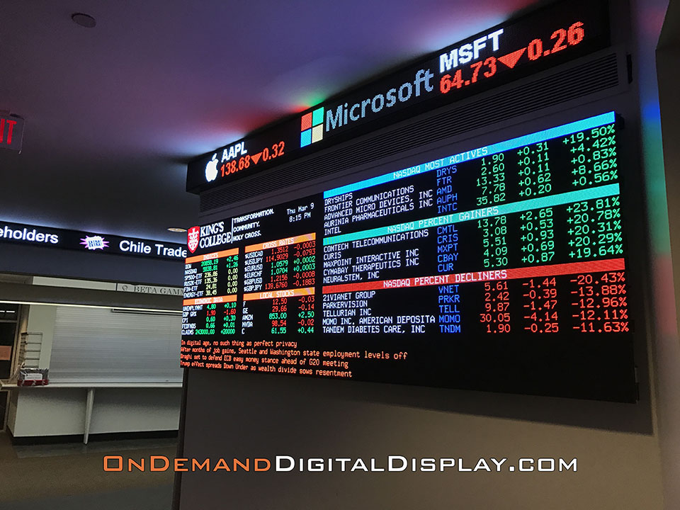 Led Stock Ticker Display Led Tickers